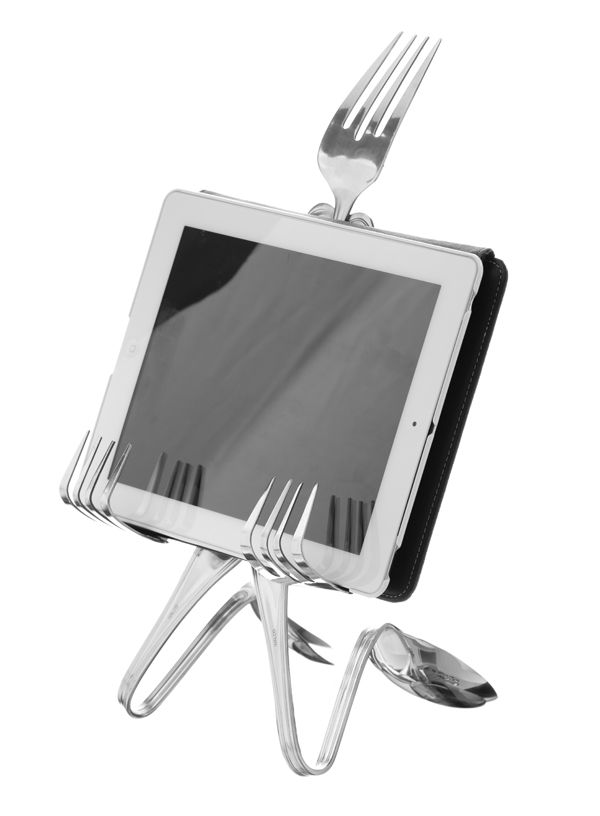 Forked Up Art: Giveaway - Cookbook Holder/iPad Stand