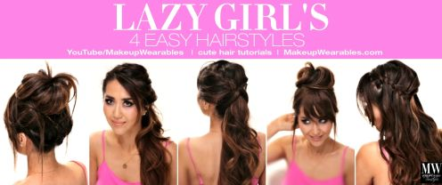 About hair on pinterest lazy girl messy buns and easy hairstyles