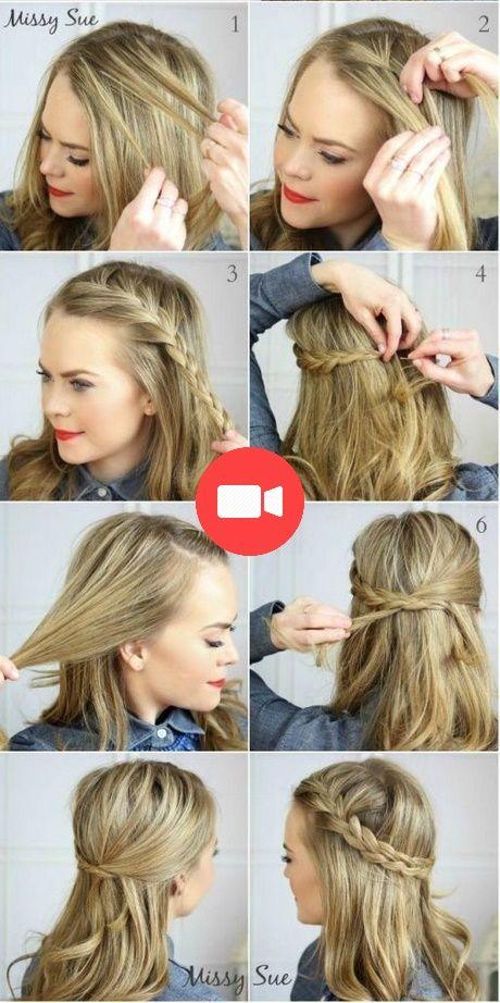 Belles coiffures rapides pour cheveux moyen