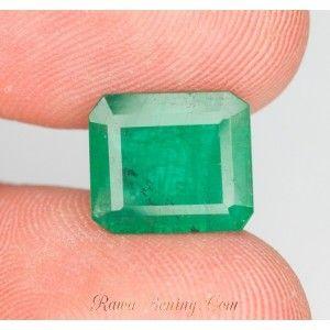 Jual Zamrud Brazil 4.3 carat Oktagon Cut