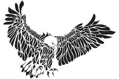 Tribal Eagle Tattoo | tribal eagle tattoos designs