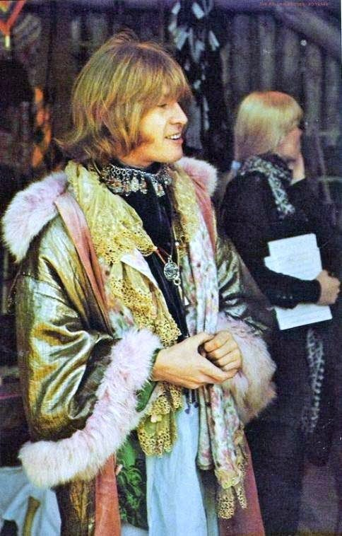 Brian Jones introduces The Jimi Hendrix Experience to America in 1967 at The Monterey International Pop Music Festival