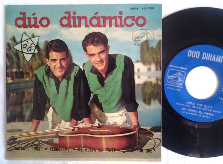 DÚO DINÁMICO - EP VINILO. 1962.   Bailando twist. Perdóname. Me gusta el twist. ¿Dime por qué? (Comprobado disco) (EL DUENDE VERDE en todocolección)