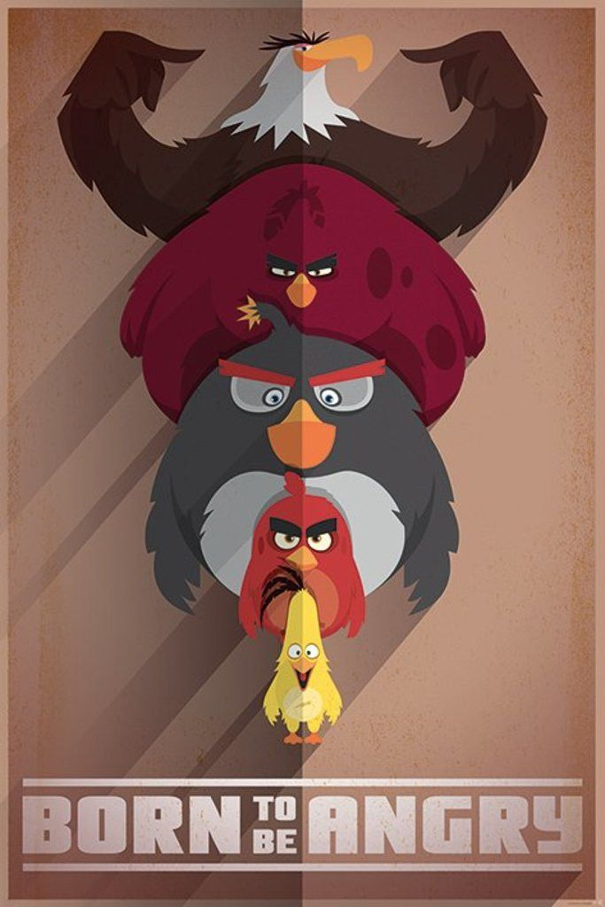 Angry Birds - Born to be Angry - Official Poster. Official Merchandise. Size: 61cm x 91.5cm. FREE SHIPPING