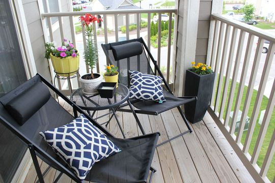 Chairs – Target clearance ($17 each) Pots – Homegoods (around $9 each) Tall black pots – Target (bought for my wedding - $24 each) pillows – Target ($9 each) Rug – Target Flowers – Lowe's