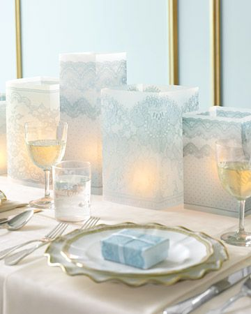 lace luminaries, absolutely gorgeous & easy to make!