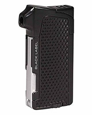 Condor Traditional Flame Pipe and Cigar Lighter in an Attractive Gift Box Warranty Black Matte