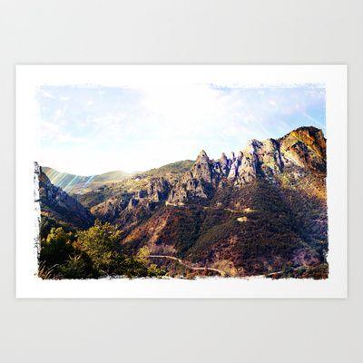 Landscape: Italy - Pietrapertosa Art Print by Sonia Marazia - $15.60