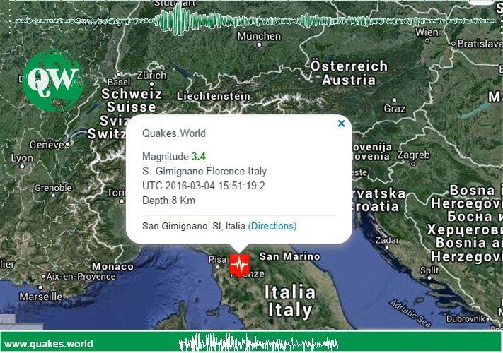 #SanGimignano #Florence #Firenze #earthquake #terremoto Florence San Giminiano ML 3.4
