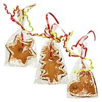 BESPOKE-FOOD - DRINK AND GIFTS-Food-Gingerbread Hanging Decoration-£1.25-Hang deliciously decorated gingerbread from your tree or around the home for a festive decoration that makes a tasty Christmas eve treat. This is an assorted product in three shapes: a heart, tree and star. When you buy a gingerbread hanging decoration you will receive one of these shapes.