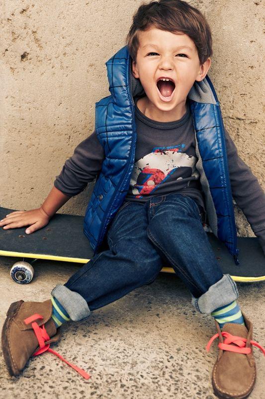 Los chalecos son muy prácticos para que los niños puedan moverse fácilmente sin desabrigarse.