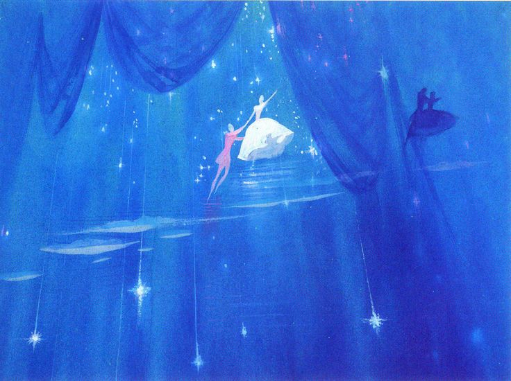 mary blair, cinderella concept art, unused dream sequence