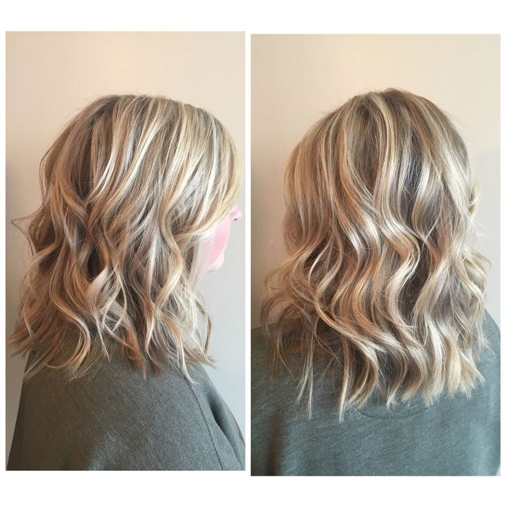 Highlights and lowlights for this blonde lob. Done by Charmaine at CharMarie Salon in Christiansburg, Va.