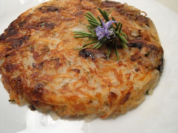 Rosti With Mushrooms. A French Crispy Potato dish packed with ...