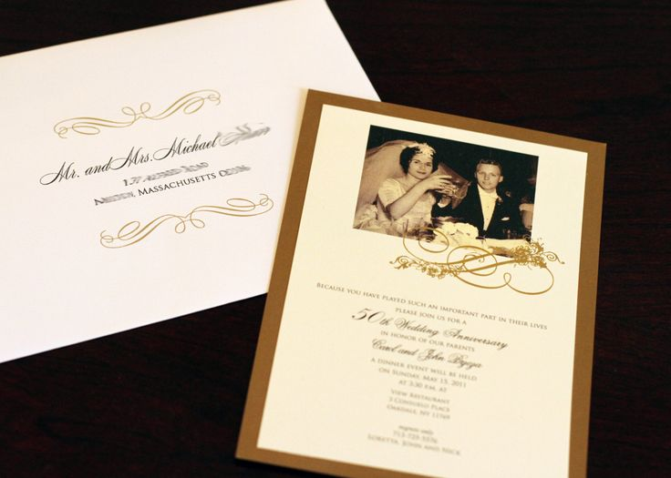 21 best 50th anniversary images on pinterest anniversary ideas wedding anniversary invitation sample by socialcircles stopboris Gallery