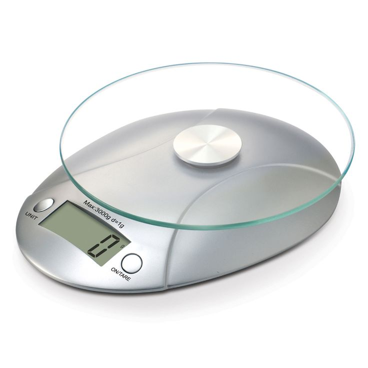 Marimac Glass Kitchen Scale in Silver - Beyond the Rack