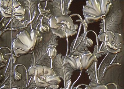 Mimmic  pewter poppy book cover