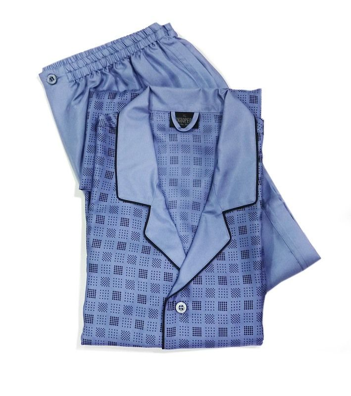 ¡PIJAMA DE SEDA!. Prenda para caballero confeccionado en SEDA PURA 100%, de corte clásico a la vez que elegante y muy diferente a los tejidos tradicionales.