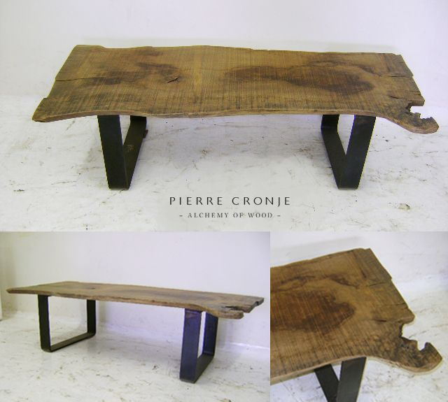 Pierre Cronje's simple coffee table with blackened steel base and French Oak top