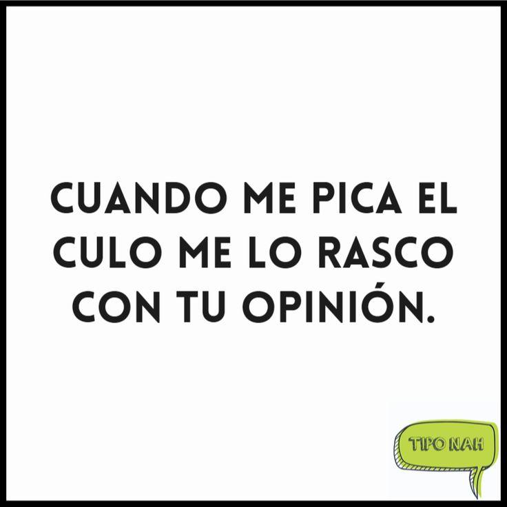 Cuando me pica el culo me lo rasco con tu opinión.  #humor #tipo