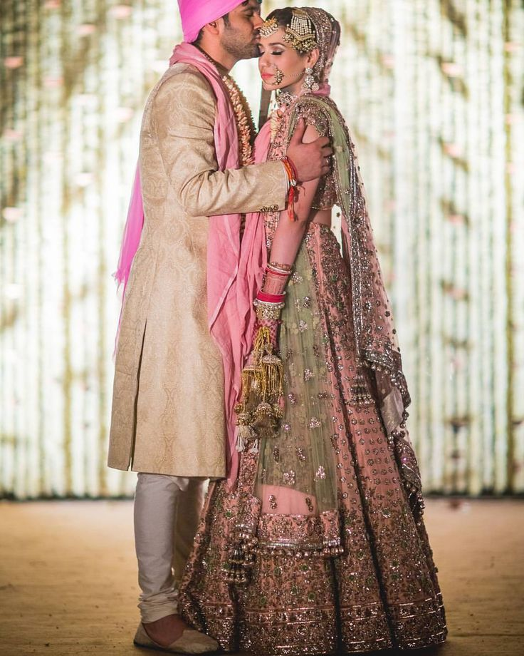 bride wearing lehenga
