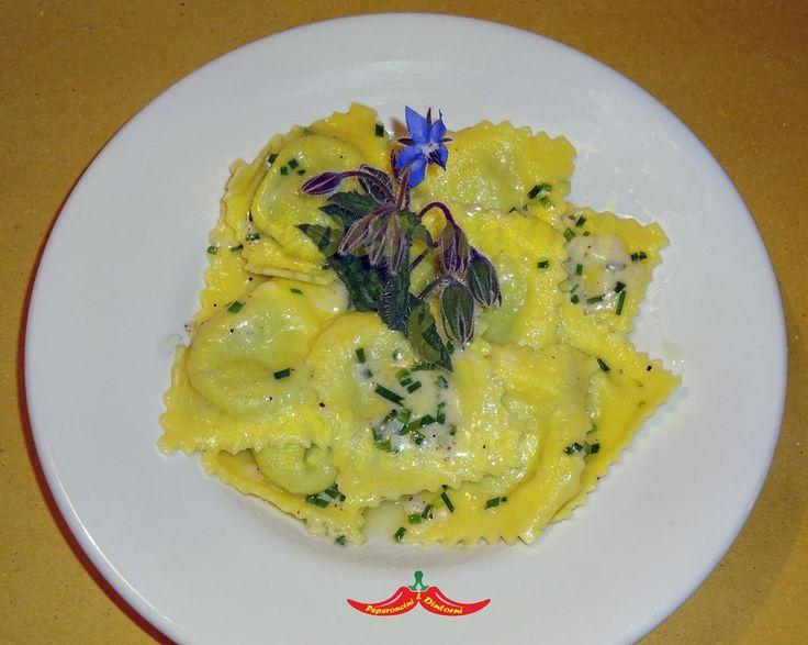 Ravioli+di+Borragine,+Ricotta+e+erba+cipollina