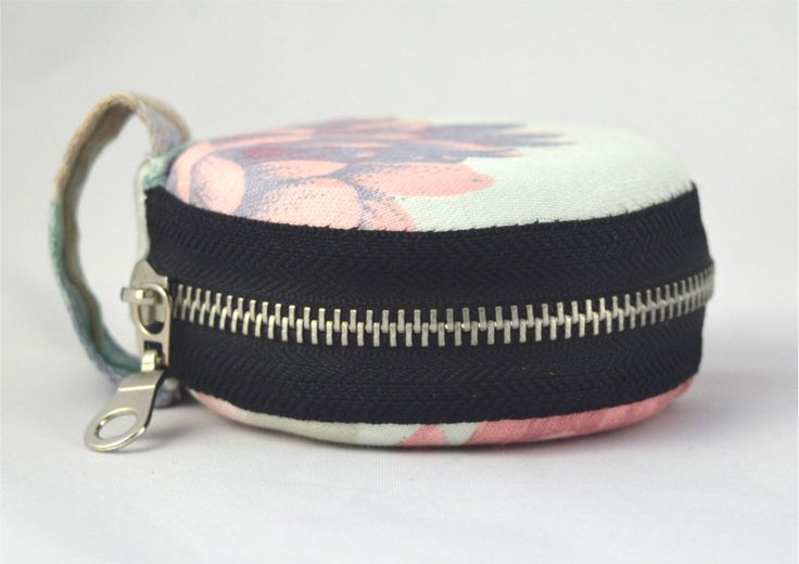 Unique sweet small round coin bag,coin purse, secret box made from recycled materials and fabrics by YapokBags on Etsy