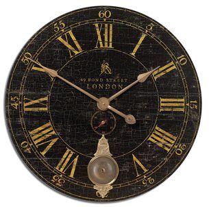 "South Shore Decorating: Timeworks 06030 Bond Street 30"" Traditional Wall Clock UM-06030"