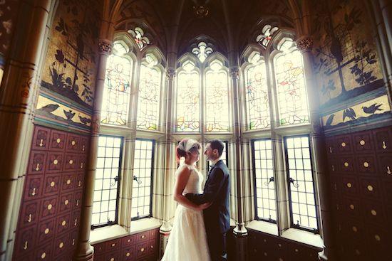 Real Cardiff Wedding: Charlie & Mark's castle wedding shot by Maria Farrelly.  Venue: Cardiff Castle