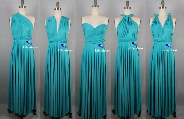 Maxi Full Length Bridesmaid Navy Blue Infinity Dress Convertible Wrap Dress Mult Wedding Dress Suit Inexpensive Bridesmaid Dresses Turquoise Bridesmaid Dresses