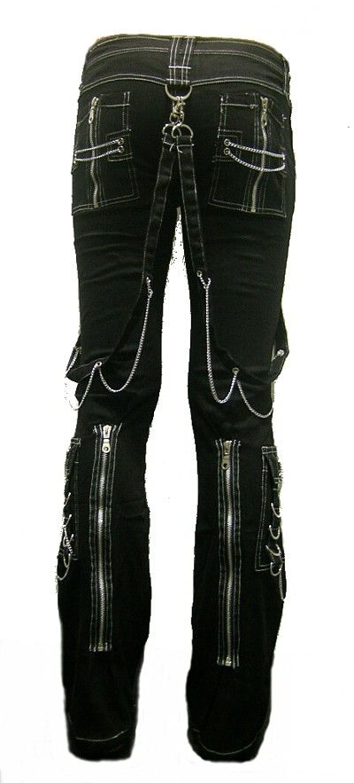 Rage Devastation Gothix Punk Bondage Metal Pants XXL by deathby13