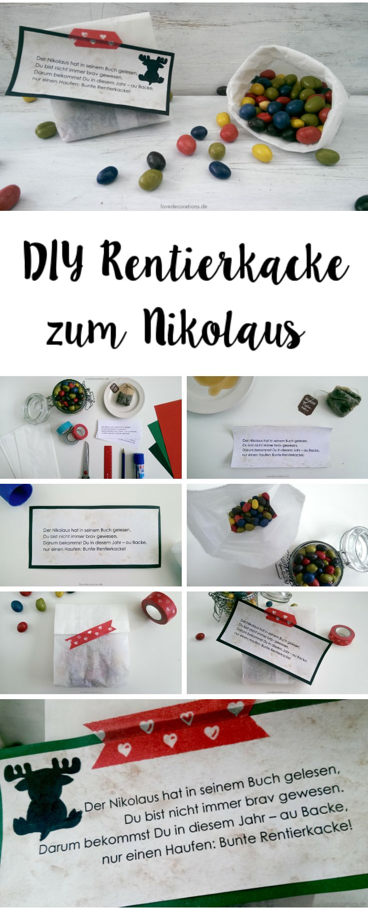 DIY Rentierkacke zum Nikolaus                                                                                                                                                                                 Mehr