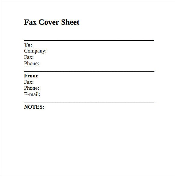 Blank Fax Cover Sheet Template] , Resume Cover Sheet Free Word Pdf ...