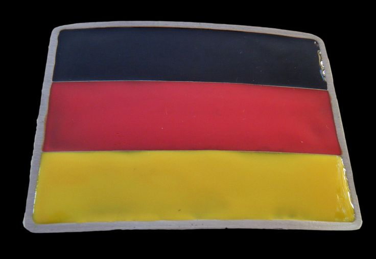 Germany Big World Cup Soccer Country Flag Belt Buckles