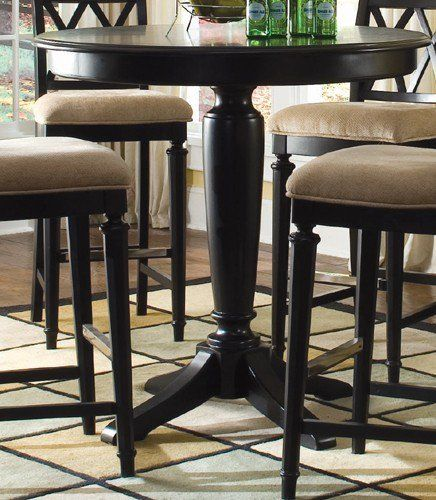 American Drew Camden Dark Bar Height Pedestal Table