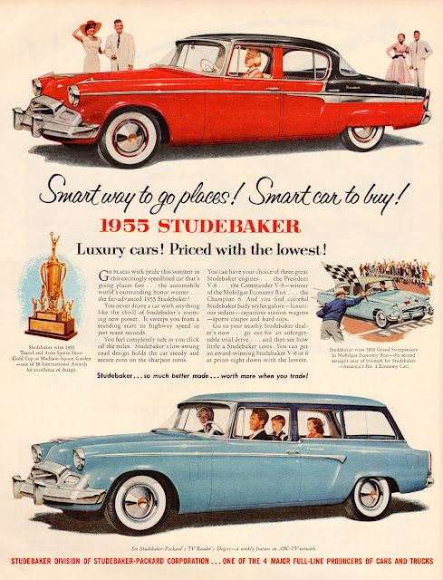 "Studabaker ""Luxury Cars"" 1955"
