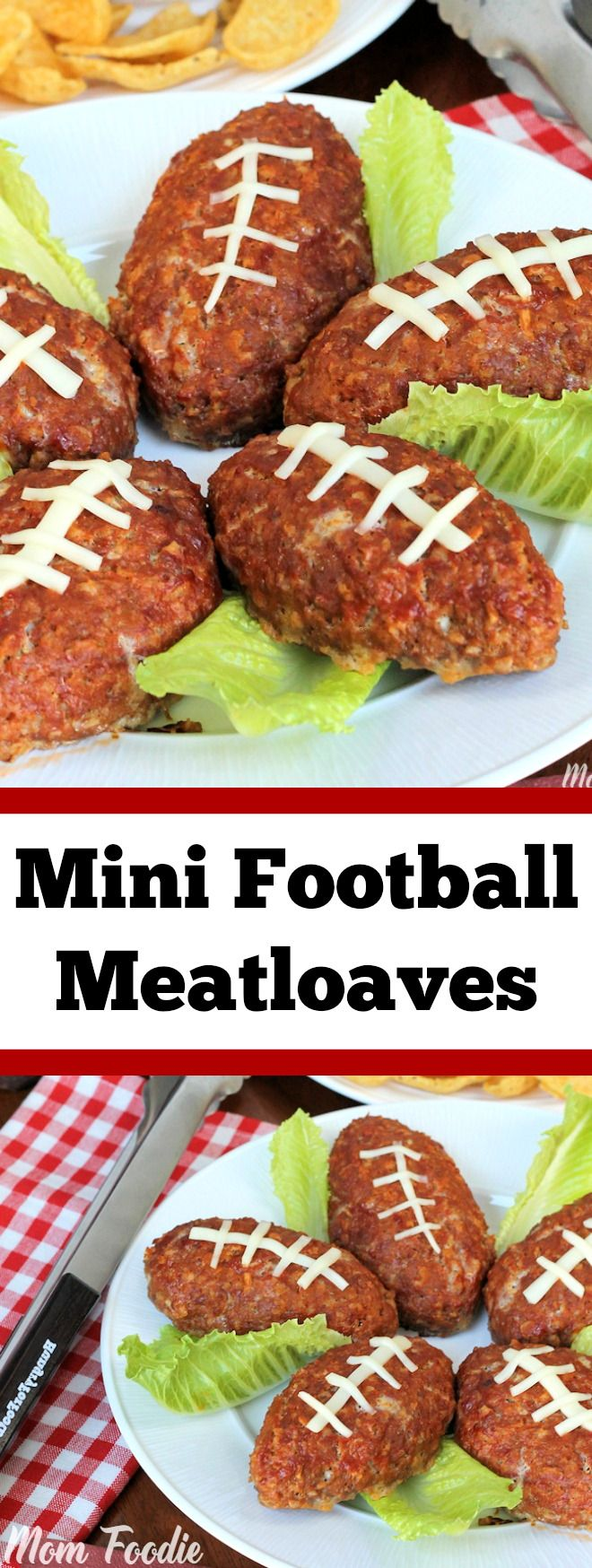 Football Mini Meatloaves are an easy football party food that guests ...