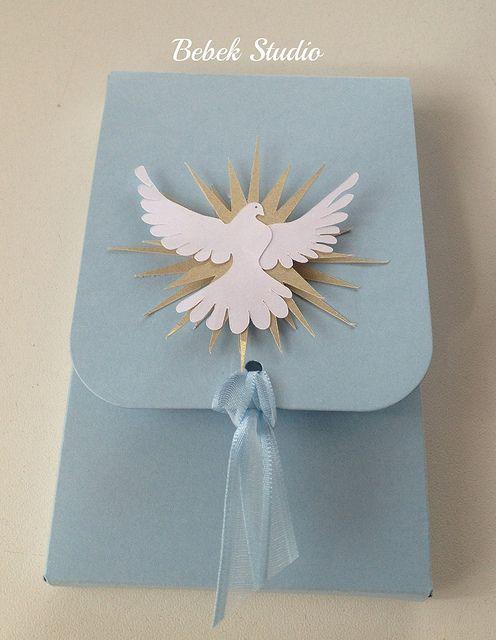 Caixa para dois macarrons e caixa com oração e tercinho para Batismo ou Primeira Comunhão   Flickr – Condivisione di foto!