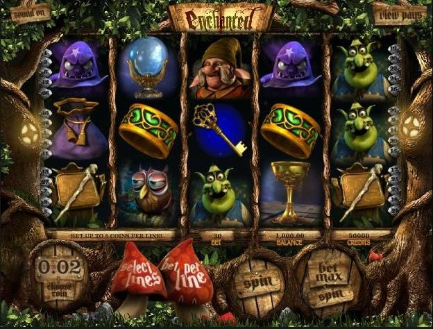 Play the Enchanted 3D video slots game for free or for money online at 1OnlineCasino.com