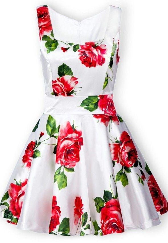 Bandeau floral tank dress