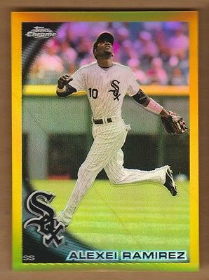 ALEXEI RAMIREZ 2010 Topps Chrome #17/50 Gold Refractor #66 Chicago White Sox '10