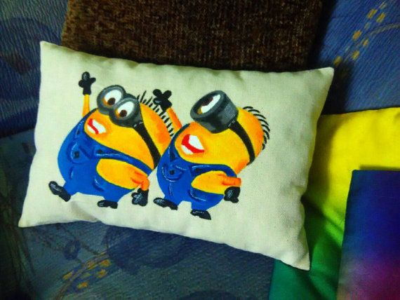 Personalized minions decorative pillow/ by LoveCreationStudio