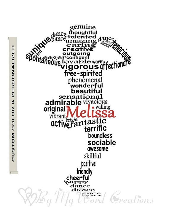 Personalized Tap Dancer Word Art Girl Gift by ByMyWordCreations