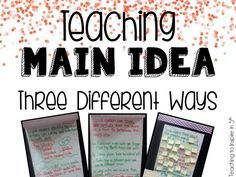 Teaching Main Idea of Nonfiction Text *3 Different Ways* - Teaching to Inspire with Jennifer Findley