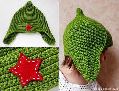 Вязание крючком детям. шапка-буденовка