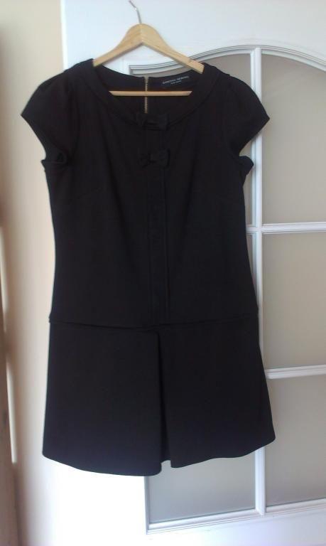 DOROTHY PERKINS czarna sukienka retro r.40