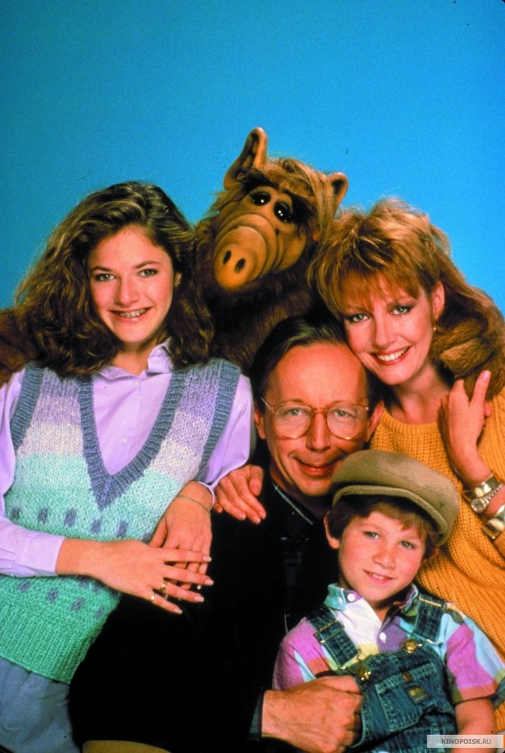 ALF. Looking at this picture, it looks like a creepy little family, but I LOVED this show!!