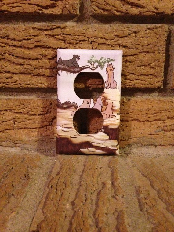 Jungle Book Electric Outlet Plate Cover, Jungle Book Bagheera, Jungle Book Decor, Jungle Book Nursery, Jungle Book Mowgli, Jungle Book Gift