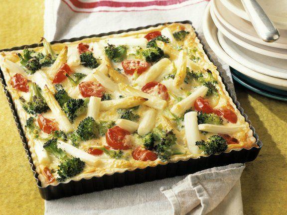 Spargelkuchen mit Brokkoli |