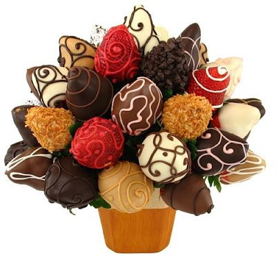 a bouquet of chocolate covered strawberries